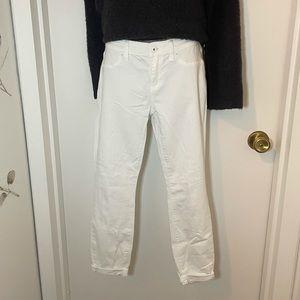 "Lila Ryan ""Dorianna"" white cropped jeans, 27P"